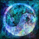 Yin and yang symbol. On background grunge Stock Photography
