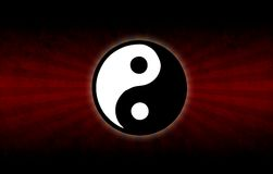 The yin and yang symbol Stock Photography
