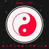 Yin yang symbol av harmoni och jämvikt Royaltyfri Foto
