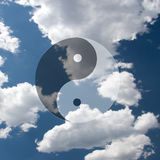 Yin Yang Symbol Clouds Images stock