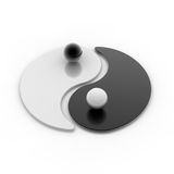 A Yin And Yang Symbol Royalty Free Stock Image