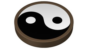 Yin Yang Symbol-draai rond het 3d teruggeven stock videobeelden
