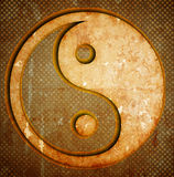 Yin yang symbol on grunge Royalty Free Stock Image