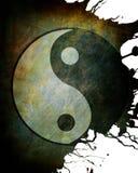 Yin yang symbol. On grunge background Stock Photography