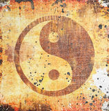 Yin yang symbol on grunge Stock Images