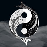 Yin yang symbol Stock Photos