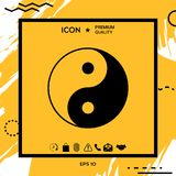 Yin yang symbol of harmony and balance. Element for your design Royalty Free Stock Photography
