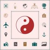 Yin yang symbol of harmony and balance royalty free illustration