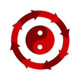 Yin and yang symbol,icon,3D illustration. Yin and yang symbol,icon,best 3D illustration Royalty Free Stock Photography