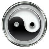 Yin yang symbol icon grey Stock Images