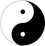 Yin Yang symbol stock photography