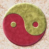 Yin-yang symbol with seamless generated texture background Royalty Free Stock Photo