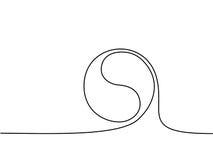 Yin yang symbol sign Stock Photo