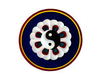 Yin Yang symbol of Taoism. In Chinese temple Royalty Free Stock Photos