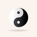 Yin and Yang symbol. Vector icon illustration Stock Images