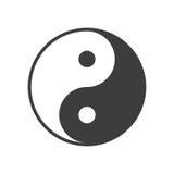 Yin yang symbol vector. Royalty Free Stock Photography