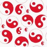 Yin yang symbol. Vector illustration. seamless Royalty Free Stock Images
