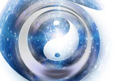 Yin Yang. Symbol in vortex Stock Images