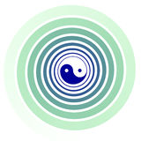 Yin Yang Tai Chi swirl Royalty Free Stock Photography