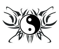 Yin & yang tattoo vector illustration