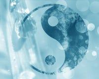 Yin yang teken stock illustratie