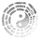 Yin Yang-textuur van zilver vector illustratie