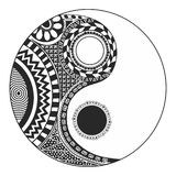 Yin Yang. The yin and yang theory very old. Symbol of duality that exists in every element that make up the universe: two opposite and complementary entities Royalty Free Stock Image