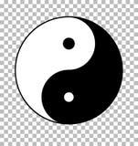Yin yang on transparent background. yin yang sign. Flat style Royalty Free Stock Photos