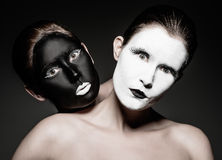 Yin yang twins Stock Images