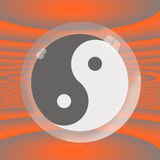 Yin Yang Under Glass Royalty Free Stock Photography