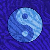 Yin Yang Underwater. A Yin Yang symbol appears to be under water - the undulating ripples and light patterns create the illusion of being under water, as if the Royalty Free Stock Photography
