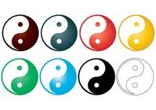 Yin yang - vector Stock Afbeelding