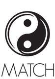 Yin yang. Vector illustration of the yin yang balance sign Stock Image