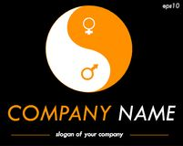 Yin-Yang vector logo template, ready logotype for a company or a Stock Image