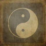 Yin yang vintage. Yin yang symbol on vintage, textured background Stock Photos
