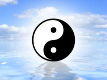 Yin Yang on water Stock Image