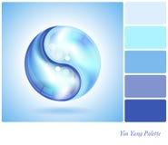 Yin Yang water drop palette Stock Photos