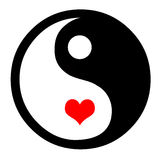 Yin Yang With Hearts Stock Image