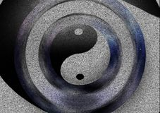 Yin Yang. Sign. Image composed entirely of words royalty free stock photos