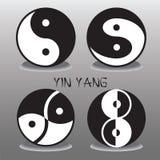 Yin Yang Zeichen Stockfotos