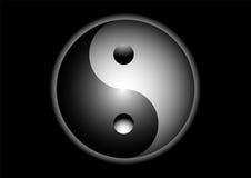 Yin Yang Zeichen Stockfotografie