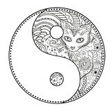 yin - yang Zentangle Fotografia Stock