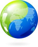 Yin Ziemia Yang eco energii pojęcie - Zdjęcie Stock