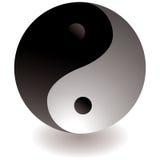 ying czarny biały Yang ilustracja wektor
