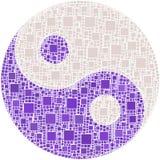 Ying e símbolo de yang Foto de Stock