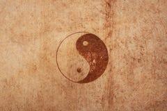Ying e segno del yang immagini stock