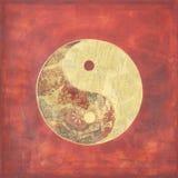 Ying y collage de yang Imágenes de archivo libres de regalías