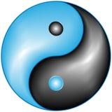 Ying y vector de yang Foto de archivo