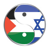 Ying Yan. Symbol with the Israeli and Palestinian flags. Vector File Available Stock Images