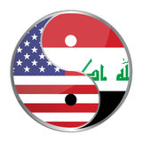 Ying Yan. Symbol with the American and Iraqi flags. Vector File Available Stock Photo